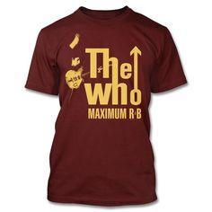 The Who Maximum R&B T-shirt (Maroon)