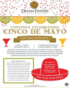 @dreamfinders_ is hosting a #Realtor exclusive Cinco de Mayo-themed event at The Palms at Nocatee! The May 19 event will feature tours of their stunning single-family home models! #rsvp