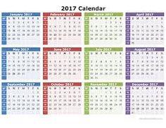 Image result for calendar 2017