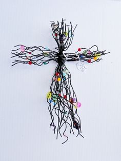 Beaded Wire Cross