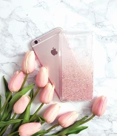 Rose Pink Gold glitter iPhone 7 case iPhone 7 by HandmadebyTN