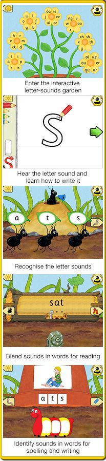 The Jolly Phonics Letter Sounds app contains lots of educational learning games