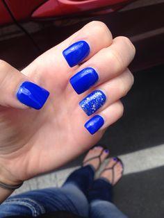 royal blue acrylic nails  nails nails nails  pinterest