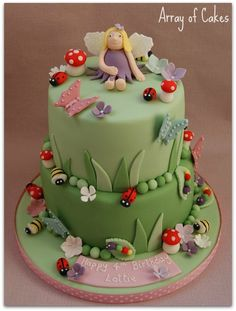 Fairy & Garden Bugs Birthday Cake