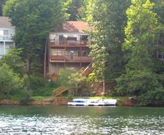 View of the lake house from Lake Arrowhead.