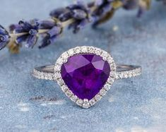 HANDMADE RINGS & BRIDAL SETS by MoissaniteRings on Etsy Bridal Ring Sets, Handmade Rings, Heart Ring, Amethyst, Trending Outfits, Unique Jewelry, Engagement Rings, Gifts, Merry