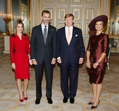 King Felipe and Queen Letizia went to the Netherlands to introduce themselves as the new rulers of the Spain.