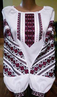 Вишиванка, жіноча вишивана блузка на домотканому полотні (Арт. 01863) Folk Embroidery, Embroidery Fashion, Embroidery Patterns, African Wear, Traditional Outfits, Boho, Sewing, Costume, How To Wear