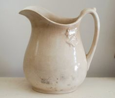 rustic ironstone pitcher