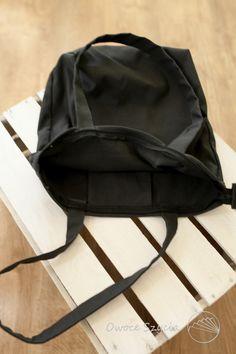 #owoceszycia Torebka | bag handmade, total black.