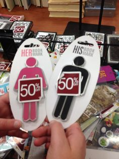 Gendered bookmarks at Barnes&Noble