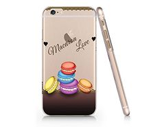 Cute Macarons Clear transparent Plastic Phone Case for Iphone 6 Yurishop