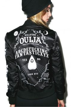 Ouija Satin Jacket