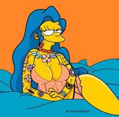 Inked Marge, The Simpsons Simpson Wallpaper Iphone, Cartoon Wallpaper, Cartoon Kunst, Cartoon Art, The Simpsons, Simpsons Drawings, Simpsons Characters, Marijuana Art, Sexy Cartoons