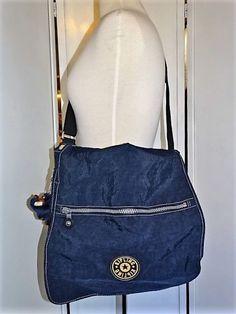 Kipling Messenger Bag Computer Back Back To School Dark Blue Adjustable Strap #Kipling #MessengerShoulderBag