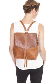 Yami Backpack in Brown by Raven & Lily. Handmade by women artisans in Ethiopia.