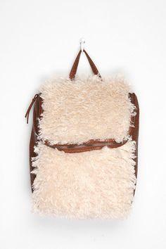 sherpa fur backpack - Google Search