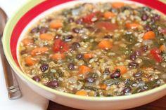 Lentil Minestrone Soup ~ I love lentil soups. Just add a splash of red wine vinegar before serving. Perfection!