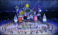 Artists perform during the opening ceremony of the 2014 Winter Olympics.