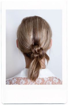Cute hair knot!