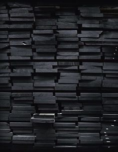 black painted wood / color inspiration / black and white / monochromatic / texture / pattern / nature / art / All Black Everything, Grafik Design, Shades Of Black, Black Is Beautiful, Beautiful Beach, Textures Patterns, Color Inspiration, Daily Inspiration, Black And White