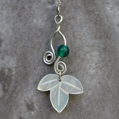 Amazon.com: Mother of Pearl Leaf Design Pendant Necklace with Sterling Silver Chain: Arts, Crafts & Sewing