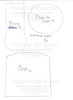 QUE JEITINHO MAIS FOFO!!!   Ontem, 17/04/2012,a Elefoa foi apresentada no programa Ateliê na TV. Porém, na hora de postar os moldes alguns ...