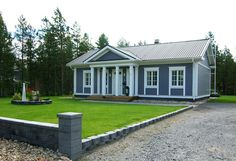 Asiakkaiden kuvat - Kannustalo Home Office, Terrace, House Plans, Garage Doors, Shed, Outdoor Structures, Cottages, Outdoor Decor, House Ideas
