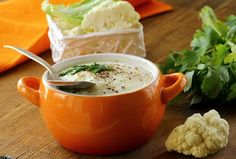 Dukan diet 558094578793318610 - Cauliflower Soup Source by Aga Recipes, Cooking Recipes, Vegetarian Cooking, Dukan Diet Recipes, Healthy Recipes, Cauliflower Soup Recipes, Soup And Salad, Soups And Stews, Healthy Eating