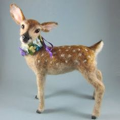 Fawn - all dressed up for Easter.  Repinned by www.mygrowingtraditions.