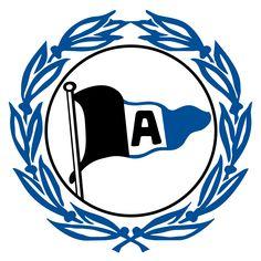 Arminia Bielefeld of Germany crest. Bundesliga Logo, German Football Clubs, European Football, Hamburger Sv, Wuppertaler Sv, Premier Liga, Football Results, Germany Football, Football Mexicano