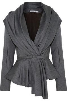 Oscar de la Renta - Skyline belted wool-blend jacket