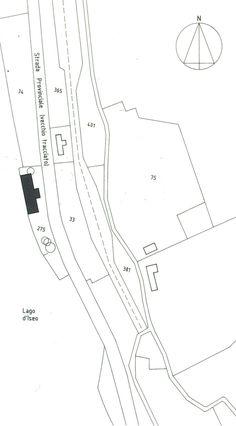 Localização da casa, Vello di Marone sul lago d'Iseo,norte de Itália,1962_Mapa
