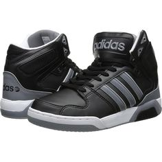 adidas BB9TIS (Black/Grey/White) Men's Shoes ($50) ❤ liked on Polyvore featuring men's fashion, men's shoes, men's sneakers, black, mens black and white sneakers, adidas mens shoes, black and white mens shoes, mens shoes and mens grey shoes