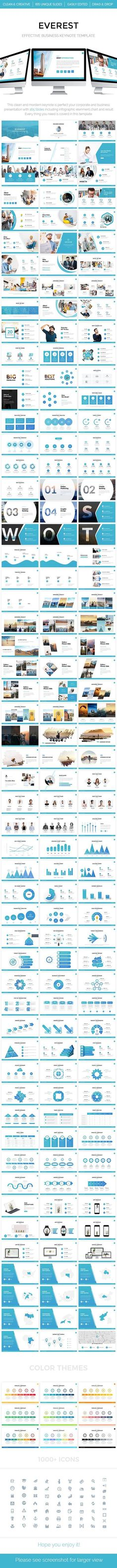 Everest - Effective Business Keynote Template 2018 - Keynote Business Presentation Template by Business Powerpoint Templates, Powerpoint Presentation Templates, Keynote Template, Presentation Slides, Business Presentation, Presentation Design, Web Design, Graphic Design, Pitch