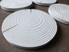 Make a mold of a tree ring then use for concrete.