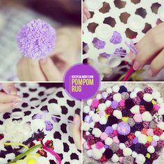 DIY: Como fazer tapete de pompom | Pom pom rug tutorial | KeepCalmDIY