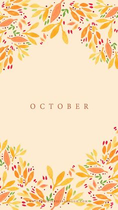 October Floral Wallpaper - www.victoriabilsborough.com