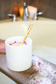 The DIY bath salts are great for the bath, but also look so pretty in the jar!