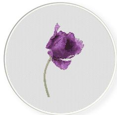 MORE for FREE  Purple Tulip  Counted Cross stitch pattern