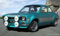Ford Escort in Light Blue with Light Grey Stripes, inch Image Alloys Escort Mk1, Ford Escort, Ford Rs, Car Ford, Retro Cars, Vintage Cars, British Sports Cars, British Car, Car Camper