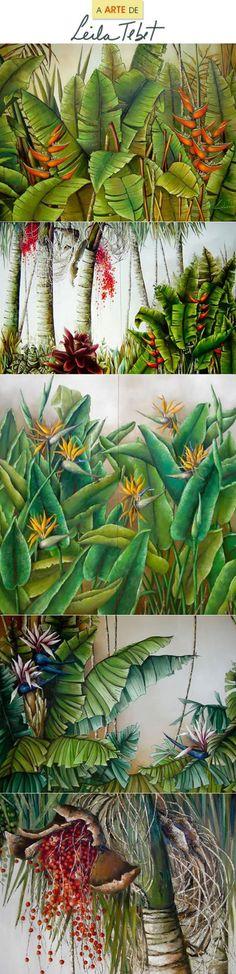 """É com muito carinho que escrevo esse post sobre a artista Leila Tebet. Fui aluna dela durante minha adolescência e só tenho a agradecer por me ensinar a desenvolver o olhar para o que é belo e atenção para criar imagens inspiradoras, focando no equilíbrio das formas e harmonia de cores e composição. Fórmula essa que, em suas palavras, """"expressam em cada pincelada o que sensibiliza o coração"""". Com certeza foi uma experiência que me ajudou na minha formação pessoal e profissional. Obrigada…"""