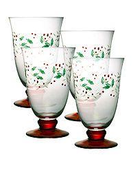 Pfaltzgraff Winterberry Water Goblet Set of 4