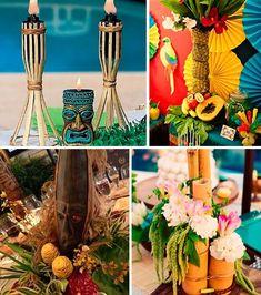 Resultado de imagem para decoração hawaii luau
