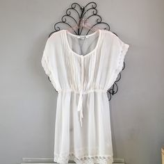 Forever 21 Sheer White Dress/ Bathing Suit Coverup Worn once. Perfect condition, no flaws. Let me know if you have any questions!! Make me an offer!! Forever 21 Dresses Mini