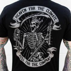 Hell Bound (Black) - ZERO FOXTROT - 1 Mens Tops, T Shirt,
