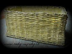 Košík z papírových ruliček - diy - pletení z papíru (Basket of paper rolls) - YouTube