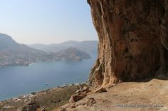 Climbing up to the Telendos Caves was tough since it was done in the searing summer heat but looking back on it, it was definitely we. Summer Heat, Caves, Climbing, Greece, Island, Outdoor, Sea, Viajes, Greece Country