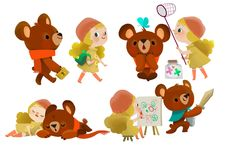 Joey Chou - B Bear and Lolly Off to School (2014) ★ || CHARACTER DESIGN REFERENCES (www.facebook.com/CharacterDesignReferences & pinterest.com/characterdesigh) • Love Character Design? Join the Character Design Challenge (link→ www.facebook.com/groups/CharacterDesignChallenge) Share your unique vision of a theme every month, promote your art and make new friends in a community of over 20.000 artists! || ★