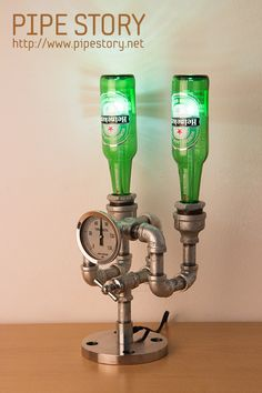 [BOTTLE PIPE LAMP] PIPE STORY Produce and sell genuine handmade industrial vintage style pipe lamps. South KOREA http://www.pipestory.net